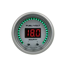 "AutoMeter Products 6709-UL Gauge, Fuel/Volt, 2 1/16"" Two Channel, Selectable, Ultra-Lite Elite Digital"