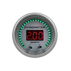"""AutoMeter Products 6744-UL Gauge, Pyrometer, 2 1/16"""", Two Channel, Selectable, Ultra-Lite Elite Digital"""