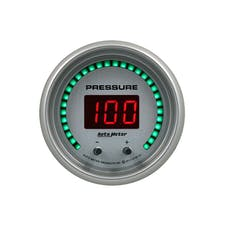 "AutoMeter Products 6752-UL Gauge, Pressure, 2 1/16"", Two Channel, Selectable, Ultra-Lite Elite Digital"