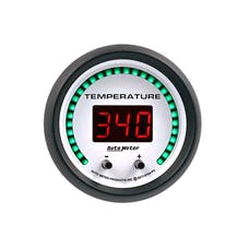 "AutoMeter Products 6754-PH Gauge, Fluid Temperature, 2 1/16"", 2 Chan, Selectable, Phantom Elite Digital"