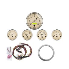 AutoMeter Products 7034-AB 5 Gauge Direct-Fit Dash Kit,  Antique Beige