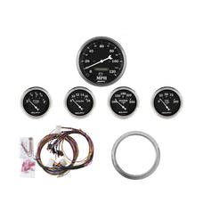 AutoMeter Products 7034-OTB 5 Gauge Direct-Fit Dash Kit, Old Tyme Black