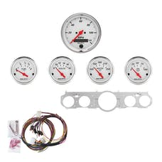 AutoMeter Products 7035-AW 5 Gauge Direct-Fit Dash Kit, Arctic White