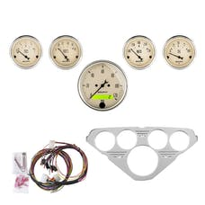 AutoMeter Products 7036-AB 5 Gauge Direct-Fit Dash Kit, Antique Beige
