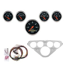 AutoMeter Products 7036-DB 5 Gauge Direct-Fit Dash Kit, Designer Black