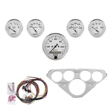 AutoMeter Products 7036-OTW 5 Gauge Direct-Fit Dash Kit, Old Tyme White