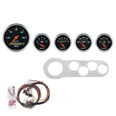 AutoMeter Products 7042-DB 5 Gauge Direct-Fit Dash Kit, Designer Black