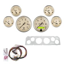AutoMeter Products 7043-AB 6 Gauge Direct-Fit Dash Kit, Antique Beige
