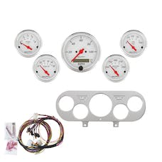 AutoMeter Products 7044-AW 5 Gauge Direct-Fit Dash Kit, Arctic White