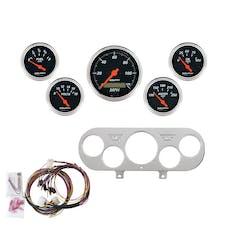 AutoMeter Products 7044-DB 5 Gauge Direct-Fit Dash Kit, Designer Black