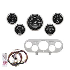 AutoMeter Products 7044-OTB 5 Gauge Direct-Fit Dash Kit, Old Tyme Black