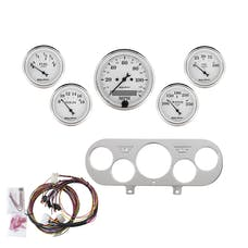 AutoMeter Products 7044-OTW 5 Gauge Direct-Fit Dash Kit, Old Tyme White