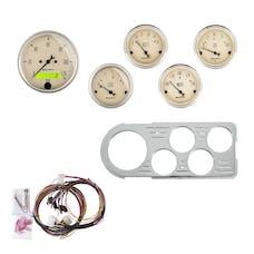 AutoMeter Products 7046-AB 5 Gauge Direct-Fit Dash Kit, Antique Beige
