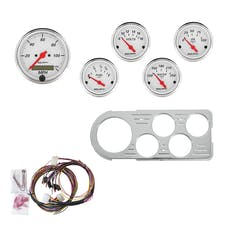 AutoMeter Products 7046-AW 5 Gauge Direct-Fit Dash Kit, Arctic White