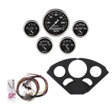 AutoMeter Products 7055-OTB 5 Gauge Direct-Fit Dash Kit, Old Tyme Black