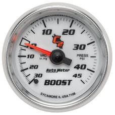 AutoMeter Products 7108 Boost/Vac 30In Hg/45 PSI