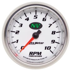 AutoMeter Products 7497 In-Dash Tach  10 000 Rpm