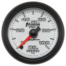 AutoMeter Products 7553 Gauge; Oil Pressure; 2 1/16in.; 100psi; Digital Stepper Motor; Phantom II