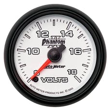 AutoMeter Products 7591 2-1/16in Voltmeter 8-18V FSE Phantom II