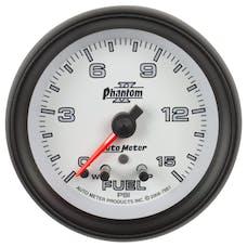 AutoMeter Products 7861 Gauge; Fuel Press; 2 1/16in.; 15psi; Stepper Motor w/Peak/Warn; Phantom II