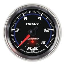 AutoMeter Products 7961 Gauge; Fuel Press; 2 5/8in.; 15psi; Stepper Motor w/Peak/Warn; Cobalt