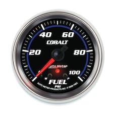 AutoMeter Products 7963 Gauge; Fuel Press; 2 5/8in.; 100psi; Stepper Motor w/Peak/Warn; Cobalt