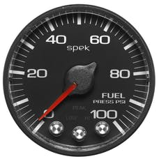 AutoMeter Products P314328 Spek Pro 2-1/16in Fuel Pressure, 0- 100 PSI, Black Dial, Black Bezel