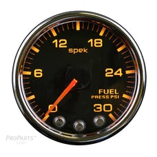 "AutoMeter Products P31631 Fuel Pressure Gauge, 2 116"", 30PSI, Stepper Motor  Black"