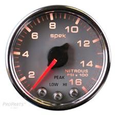 AutoMeter Products P32021 Gauge; Nitrous Press; 2 1/16in.; 1600psi; Stepper Motor w/Peak/Warn; Slvr/Chrm;