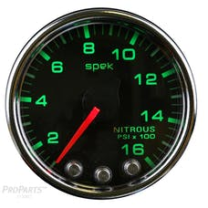 AutoMeter Products P32031 Gauge; Nitrous Press; 2 1/16in.; 1600psi; Stepper Motor w/Peak/Warn; Blk/Chrm; S