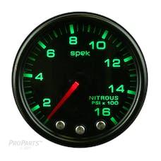 AutoMeter Products P32052 Gauge; Nitrous Press; 2 1/16in.; 1600psi; Stepper Motor w/Peak/Warn; Blk/Smoke/B