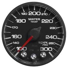 AutoMeter Products P346328 WTmp; 2in.; 300deg.F; DSM w/Pk/Wrn; Blk/Blk; Spek