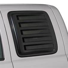 AVS 83423 Aeroshade Rear Side Truck Window Cover Louvered Acrylic Outside Mount 2pc. Black