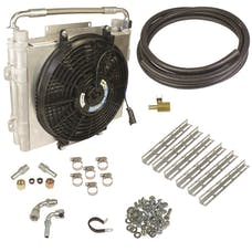 BD Diesel Performance 1030606-DS-12 Xtrude Double Stacked Transmission Cooler Kit-Universial 1/2in Tubing