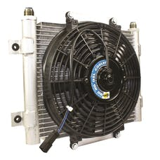 BD Diesel Performance 1300611 Xtrude Core Heavy Duty Trans Cooler w/Fan /-10 JIC Male Connection