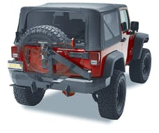 Bestop 44934-01 HighRock 4x4 Rear Bumper with Integrated Tire Carrier
