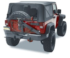 Bestop 44934-01 HighRock 4x4 Rear Bumper with Integrated Tire Carrier