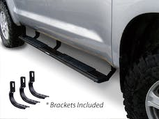 """Big Country Truck Accessories 395203870 5"""" WIDESIDER Platinum Side Bars Kit: Textured Black + Brackets (Gas Only)"""