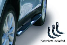 """Big Country Truck Accessories 394270756 4"""" WIDESIDER Platinum Side Bars Kit - 75"""" Long Stainless + Mounting Brackets"""