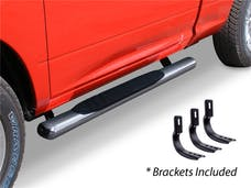 """Big Country Truck Accessories 394169526 4"""" WIDESIDER Platinum Side Bars Kit - 52"""" Long Stainless + Mounting Brackets"""