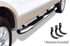 """Big Country Truck Accessories 395203808 5"""" WIDESIDER XL Composite Side Bars Kit - Chrome + Mounting Brackets (Gas Only)"""