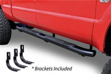 """Big Country Truck Accessories 395203801 5"""" WIDESIDER XL Composite Side Bars Kit - Black + Mounting Brackets (Gas Only)"""