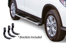 """Big Country Truck Accessories 395171716 5"""" WIDESIDER Platinum Side Bars Kit: 71"""" Long Polished Stainless Steel +Brackets"""