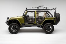 Body Armor JK-6125-2 Roof Rack side and cross tubes; JK 2 door only