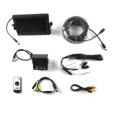 "Brandmotion 9002-7702 Commercial Grade Heavy Duty Rear Vision Camera System with 7"" Monitor"