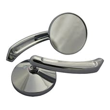 Cipa 01930 Motorcycle Chrome Small Round Mirror Kit (Left and Right Side) Universal