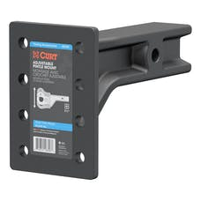 "CURT 48348 Adjustable Pintle Mount (2-1/2"" Shank, 20,000 lbs., 7-1/4"" High, 10-3/4"" Long)"