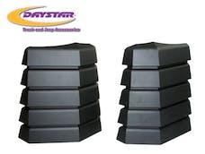 Daystar KJ71042BK Hood Vents;  Black,  Pair