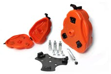 Daystar KT71001OR Cam Can Trail Box; Orange; with Spare Tire Mount