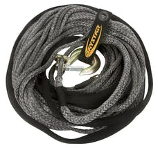 """Daystar KU10104BK 1/2"""" X 15' Black  Rope, Loop Ends with Nylon Recovery Rope Bag"""